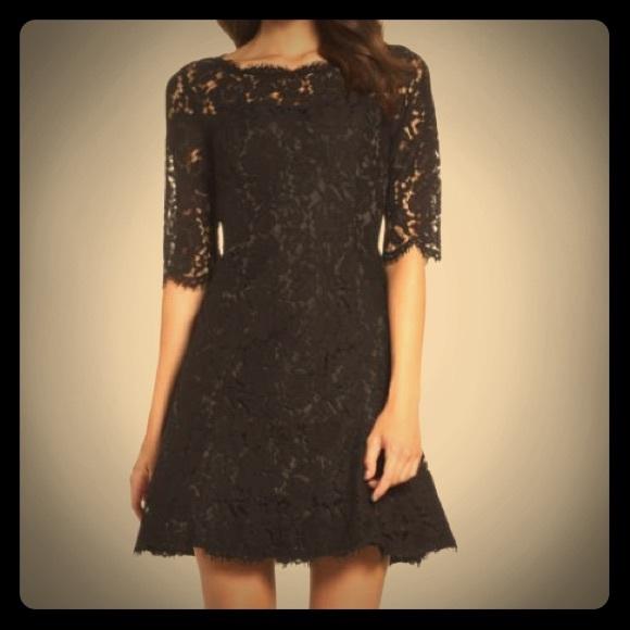 Eliza J Dresses Fit And Flare Black Lace Dress Nordstrom Poshmark